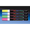 Fluorescent Wet Erase Markers Green, Orange, Pink, Purple and White