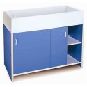 Whitney Brothers WB0721 EZ Clean Infant Changing Cabinet - Blue