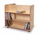 Whitney Brothers WB1037 Two Sided Mobile Library Cart