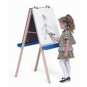 Whitney Brothers WB6800 Adjustable Easel with Chalkboard, Write & Wipe Boards