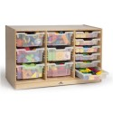 Whitney Brothers WB7003 Clear Tray Triple Storage Cabinet