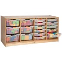 Whitney Brothers WB7004 Clear Tray Quad Storage Cabinet
