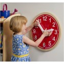 Whitney Brothers WB9180 What Time Is It? Wall Clock - Red