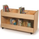 Whitney Brothers WB0296 8 Section Mobile Book Storage Cabinet