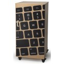 Whitney Brothers WB0779P Laptop Security Cabinet With Keyboard Image