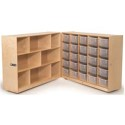 Whitney Brothers WB3226 25 Tray Fold and Roll Storage Cabinet