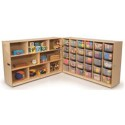 Whitney Brothers WB3231 30 Tray Fold and Roll Storage Cabinet