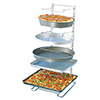 "Pizza Pan Rack 11 Shelf Slots With 2-1/2"" Spacing"