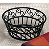 Wrought Iron, Round Bread Basket with Scroll Design