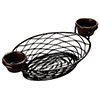Metal Serving Basket - Birds Nest Black