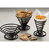 "Metal Flat Coil Serving Basket Conical, 5"" Diam.x6-3/4""H"