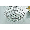 "Round Wire Basket, 8"" Diam., Stainless Steel"