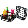Wrought Iron, Square Bread Basket with Scroll Design