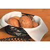 Wrought Iron, Oval Bread Basket with Leaf Design