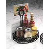 Ironworks Condiment Organizer - Wrought Iron Caddy with Leaf Design