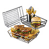 "Large Stainless Steel Grid Basket - 13""Wx6""Dx2-1/2""H"