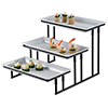 American Metalcraft IS18 Three Tier Stair-Step Buffet Server