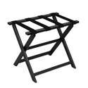 Black ECO Luggage Rack with 4 Black Nylon Straps