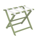 Green ECO Luggage Rack with 4 White Nylon Straps