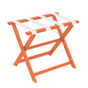 Orange ECO Luggage Rack with 4 White Nylon Straps