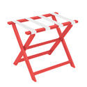 Red ECO Luggage Rack with 4 White Nylon Straps