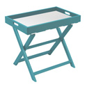 Aqua ECO Low Portable Table with 4 White Mesh Straps and Matching Removable Insert