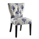 Office Star Products AND-M13 Andrew Chair in Medallion Ikat Blue