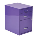 """Office Star Products HPBF512 22"""" Pencil, Box, Storage File Cabinet in Purple Finish"""