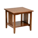 Office Star Products SRA09-AH Sierra Mission End Table In Oak Finish