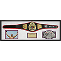 """Luxe West LW129527 Full-Size Replica """"Title"""" Championship Belt, Signed By Muhammad Ali"""