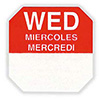"Food Rotation Labels - Day of the Week Labels Removable 1""Wx1""D Square"