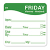 Food Rotation Labels - Day of the Week Labels Dissolvable Convenience Pack