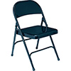 National Public Seating 54 - Folding Chair, All Steel, Char-Blue