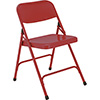 National Public Seating 240 - Folding Chair, All Steel, Red