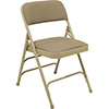 National Public Seating 2301 - Folding Chair, Fabric Upholstered, Beige