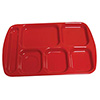 "Solid Melamine Compartment Tray - Right Hand, 15-1/2""Wx10""D"