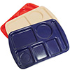 "Solid Melamine Compartment Tray - Left Hand, 15""Wx10""D"
