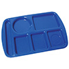 "Polypropylene Six Compartment Trays, Polypropylene, 15""Wx10""D"