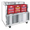 "Cold Wall Milk Cooler - Enamel Exterior, Holds (8) 13""x13"" Crates, 12.15 Cu. Ft."