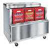 """Cold Wall Milk Cooler - Enamel Exterior, Holds (12) 13""""x13"""" Crates, 17.8 Cu. Ft."""