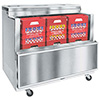 "Cold Wall Milk Cooler - Stainless Steel Exterior, Holds (16) 13""x13"" Crates, 23.5 Cu. Ft."