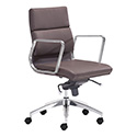 Zuo Modern 205897 Engineer Low Back Office Chair, Espresso