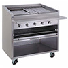 "Gas Radiant Charbroiler with Cabinet - 36""W, 120,000 BTU, 8 Burners"