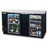 "Back Bar Cooler - 59""W, 2 Glass Swing Doors on Front"