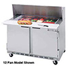 "Sandwich Prep Table - Elite Series Front Breathing 2 Doors, 48""W, 13.9 Cu. Ft."