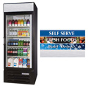 Glass Door Merchandiser - One Swing Door, 27 Cu. Ft.