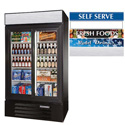 Glass Door Merchandiser - Two Swing Doors, 49 Cu. Ft.