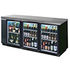 "Beverage-Air BB72GY Back Bar Storage Cooler - 72""W, 3 Glass Doors on Front"