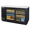 "Back Bar Storage Cooler - 59""W, 2 Glass Sliding Doors on Front"