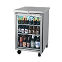 "Back Bar Storage Cooler - 24""W, 1 Glass Swing Door on Front"